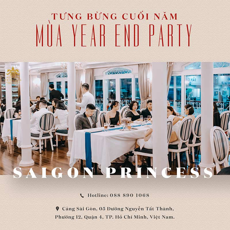 Celebrating YEAR-END party at Saigon Princess