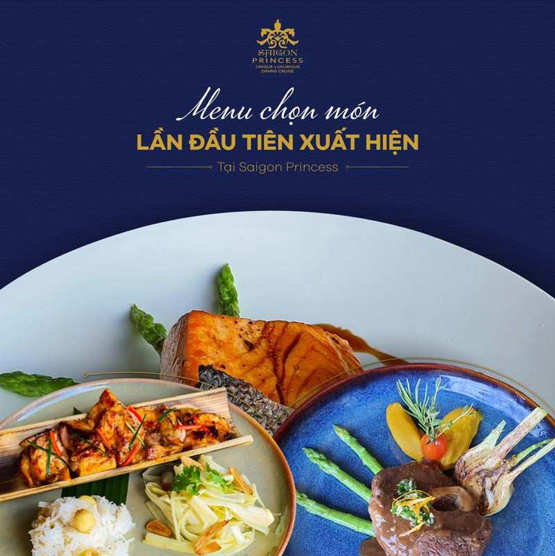 Brand new A là carte menu at Saigon Princess