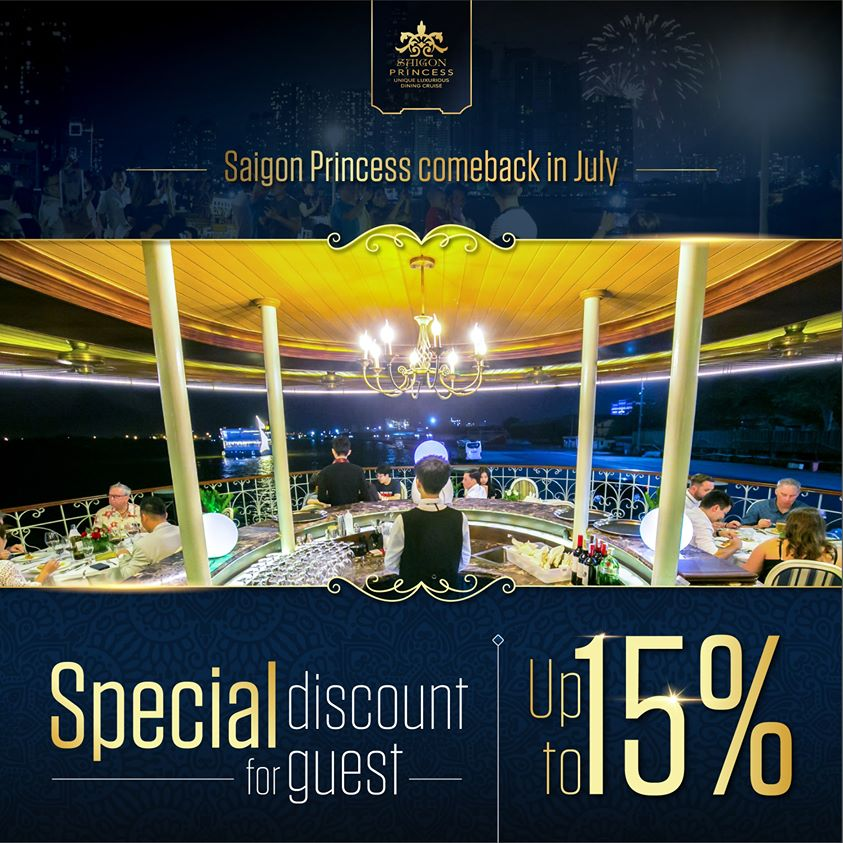 Saigon Princess and July of the back with discount up to 15%