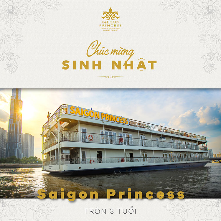 Happy the third birthday of Saigon Princess